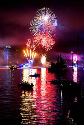 Photograph - Fireworks Spectacular by Miroslava Jurcik