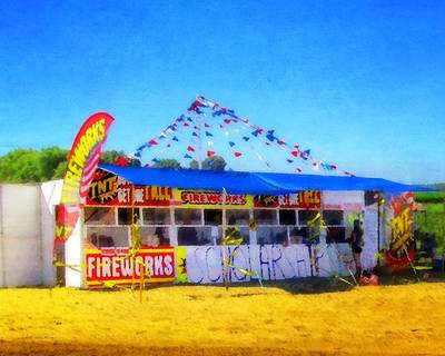 Photograph - Fireworks Stand by Timothy Bulone
