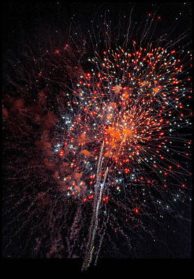 Fireworks Art Print by Steven Maxx
