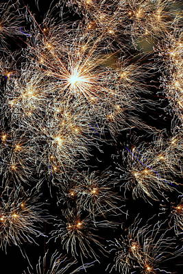 Art Print featuring the photograph Fireworks by Suzanne Stout
