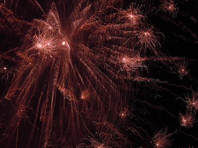 Photograph - Fireworks Three by Nancy Griswold