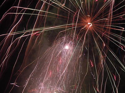 Photograph - Fireworks Twelve by Nancy Griswold