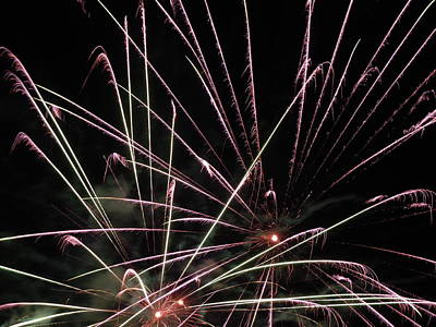 Photograph - Fireworks Two by Nancy Griswold