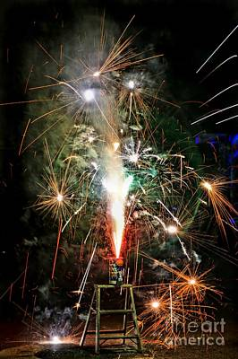Photograph - Fireworks by Vivian Krug Cotton