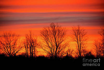 Photograph - Firey Autumn Sunrise Sky by Cheryl Baxter