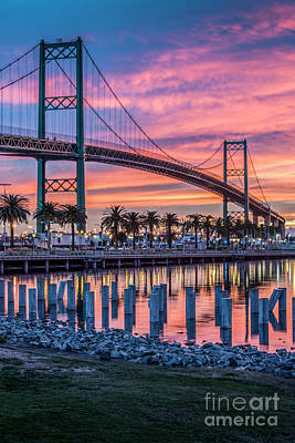 Photograph - Firey Sunrise Vertical Waterfront by David Zanzinger