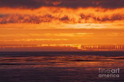 Photograph - Firey Sunset Sky by Sharon Foelz