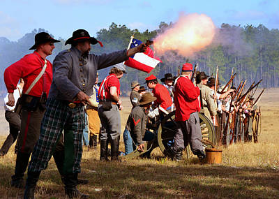 Photograph - Firing On The Enemy by David Lee Thompson