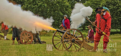 Skirmish Digital Art - Firing The Cannon by Linsey Williams