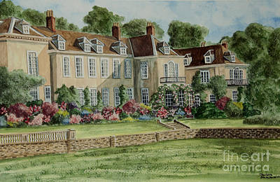 Firle Place England Original by Charlotte Blanchard
