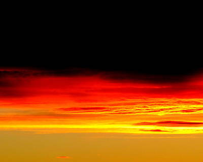 Photograph - Fire In The Sky. by Joyce Woodhouse