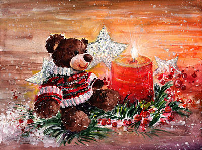 First Snow Drawing - First Advent For Truffle Mcfurry by Miki De Goodaboom