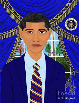 First Afro American President Barack Obama   Art Print