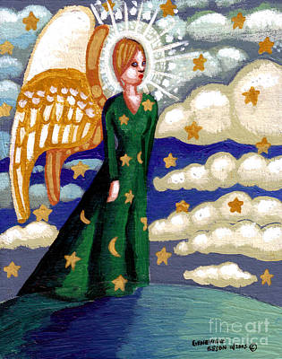 First Star Painting - First Angel by Genevieve Esson