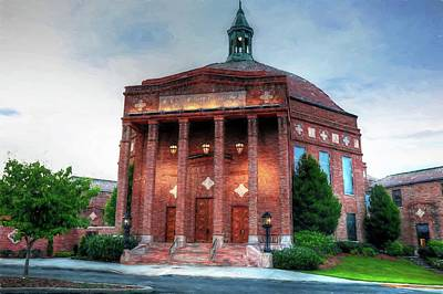 Photograph - First Baptist Church Of Asheville North Carolina Painted by Carol Montoya