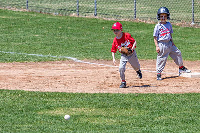 Photograph - First Base by Mike Farslow