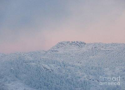 First Big Snow On Horsetooth Mountain Art Print