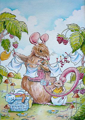 First Birthday Art Print by Debbie  Diamond