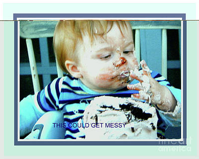 Photograph - First Birthday With Cake by Shirley Moravec