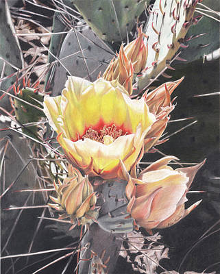 Painting - First Bloom by Robin Manelis