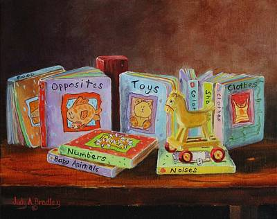 Painting - First Books by Judy Bradley