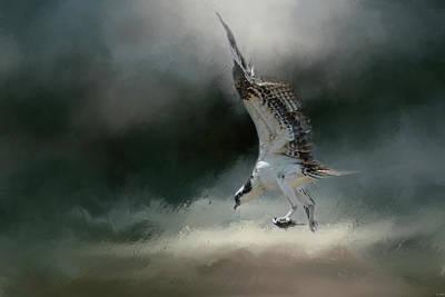 Photograph - First Catch Of The Morning Osprey Art By Jai Johnson by Jai Johnson