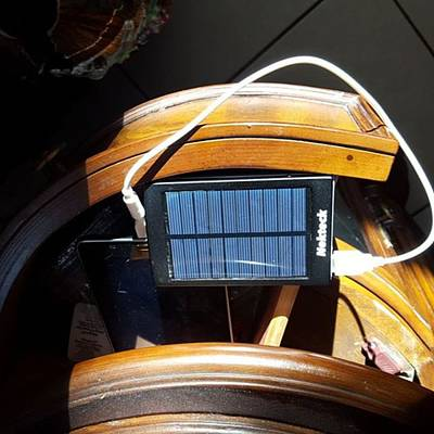 Er Photograph - First Charge With Solar Charger This by Dante Cook