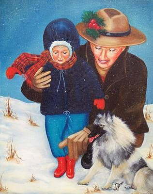 First Christmas Art Print by Joni McPherson