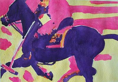 Polo Pony Painting - First Chukker by Jane Hanson