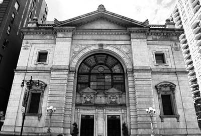 Photograph - First Church Of Christ - Manhattan - Black And White by Matt Harang