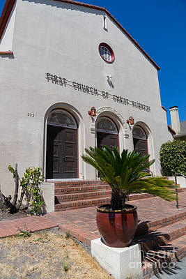 First Church Of Christ Scientist Petaluma California Usa Dsc3817 Art Print by Wingsdomain Art and Photography