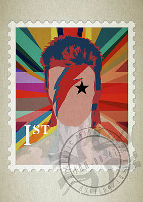 First Edition Digital Art - First Class Bowie - Union by Big Fat Arts