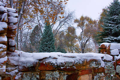 Bo Insogna Photograph - First Colorful Autumn Snow by James BO  Insogna