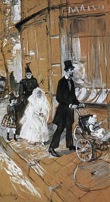 Adolescent Painting - First Communion Day by Henri de Toulouse-Lautrec