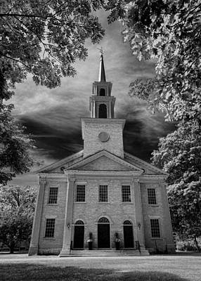 First Congregational Church Of Stockbridge Art Print by Stephen Stookey