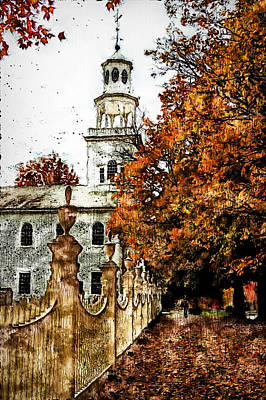 Painting - First Congregational Church Of Bennington - 01 by Andrea Mazzocchetti