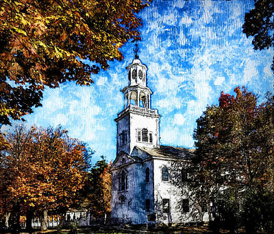 Painting - First Congregational Church Of Bennington - 02 by Andrea Mazzocchetti