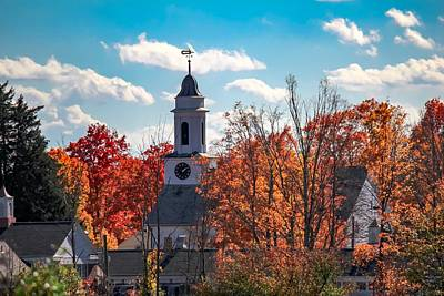 Photograph - First Congregational Church Of Southampton by Sven Kielhorn