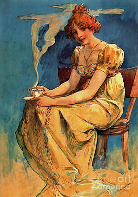 First Cup C1890 Art Print by Padre Art