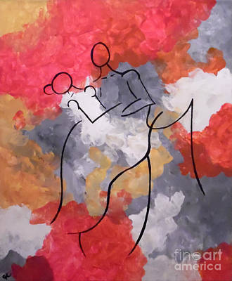 First Couple Painting - First Dance by Jilian Cramb - AMothersFineArt