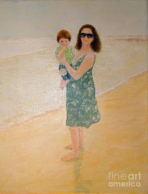 Painting - First Day At The Beach by Paul Galante