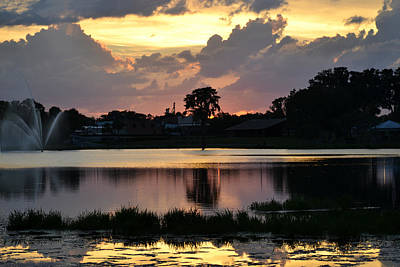 Photograph - First Day Of August Sunset by rd Erickson