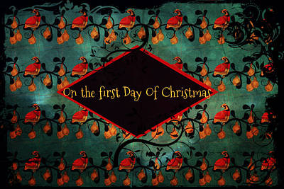 Drawing - First Day Of Christmas by Sherry Flaker
