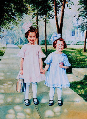 School Days Painting - First Day Of School by Hanne Lore Koehler