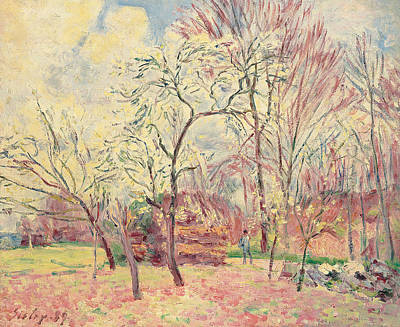 Moret Painting - First Day Of Spring In Moret, 1889 by Alfred Sisley