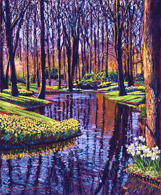 First Days Of Spring Art Print by David Lloyd Glover