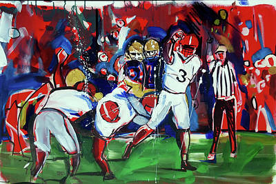 Painting - First Down by John Jr Gholson