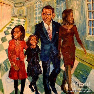 First Family Obama's Print by Keith OBrien Simms