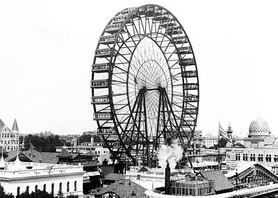 Photograph - First Ferris Wheel - Chicago Worlds Fair 1893 by Daniel Hagerman