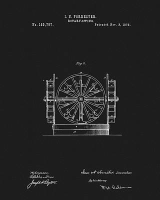 Drawing - First Ferris Wheel Patent by Dan Sproul